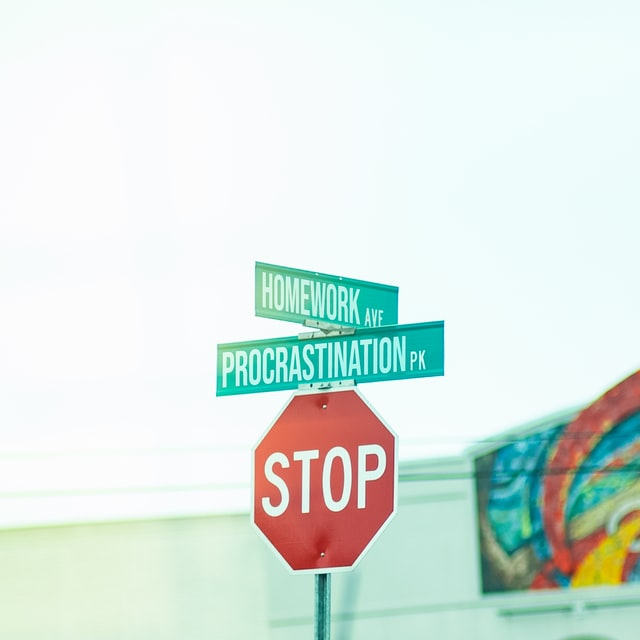 "A photo of a street sign that says ""Procrastination Pk"", probably from Nashville."